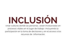 Inclusión en las organizaciones